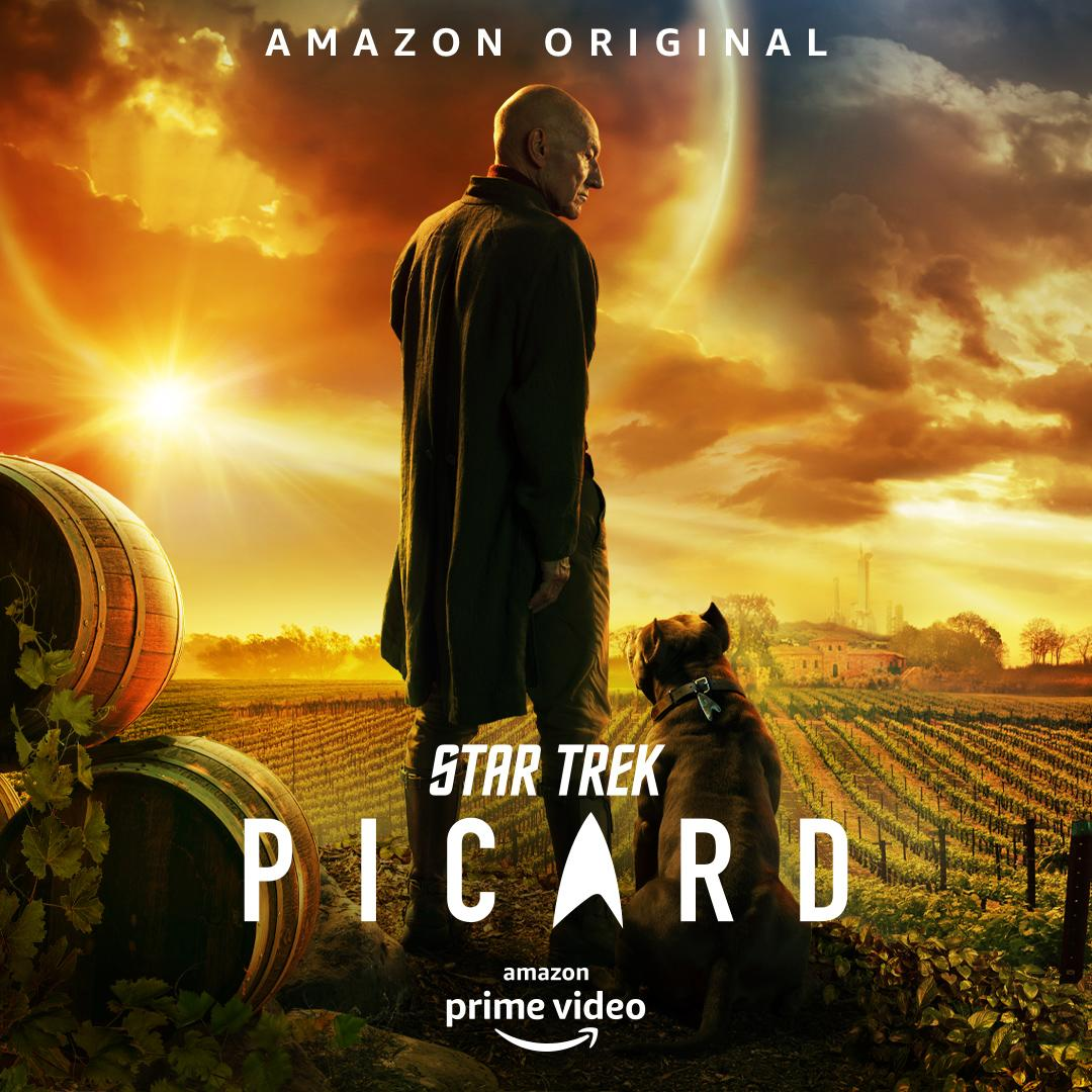 Jean-Luc looks a barrel of laughs in the first <i>Star Trek: Picard</i> key art. (Amazon Prime)