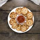 """<p>Remember those smiley face potatoes that were THE best thing on your school lunch tray? Well, we've created homemade cheesy potato smileys which are perfect for kids and the whole family to get involved with making. </p><p>Get the <a href=""""https://www.delish.com/uk/cooking/recipes/a36884159/potato-smiley/"""" rel=""""nofollow noopener"""" target=""""_blank"""" data-ylk=""""slk:DIY Potato Smileys"""" class=""""link rapid-noclick-resp"""">DIY Potato Smileys</a> recipe.</p>"""
