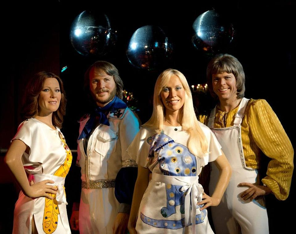 Madame Tussauds waxwork models of Swedish pop group Abba (AFP via Getty Images)