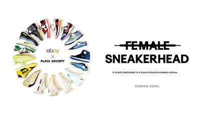 eBay's new Female Sneakerhead program – a month-long initiative dedicated to celebrating the future of sneaker culture where women are better represented – launches with a collaboration with Playa Society, which will include a curated shop with hard to find grails and limited-edition merchandise.