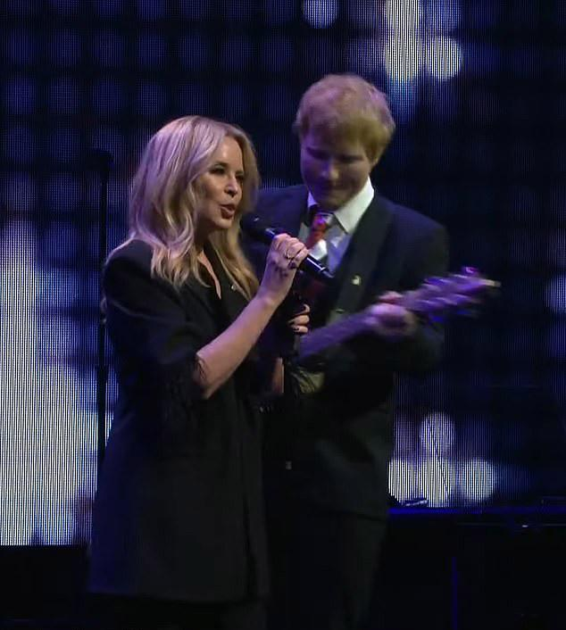 Kylie Minogue and Ed Sheeran paid a moving musical tribute to late music promoter, Michael Gudinski. Photo: YouTube/mushroomvideos.