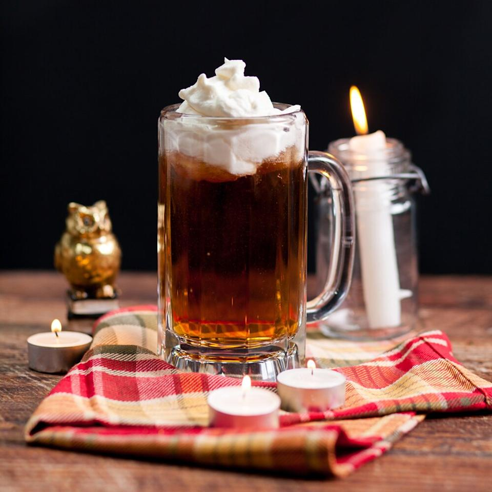 "<p>Fancy a trip to the Wizarding World? This classic favorite drink of witches and wizards alike will be enough to put some magical pep in your step! This <a href=""https://www.myrecipes.com/t/halloween/drinks"">drink</a> is a decadent, rich, and buttery experience. Top this popular wizarding beverage with plenty of homemade whipped cream before serving to family and friends. </p> <p><a href=""https://www.myrecipes.com/recipe/butterbeer"">Butterbeer Recipe</a></p>"