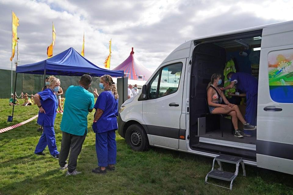 Vaccines have been made available at sites including music festivals under the 'grab-a-jab' scheme (PA) (PA Wire)