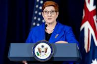 Australian Foreign Minister Marise Payne said she understood France's 'disappointment' (AFP/Andrew Harnik)
