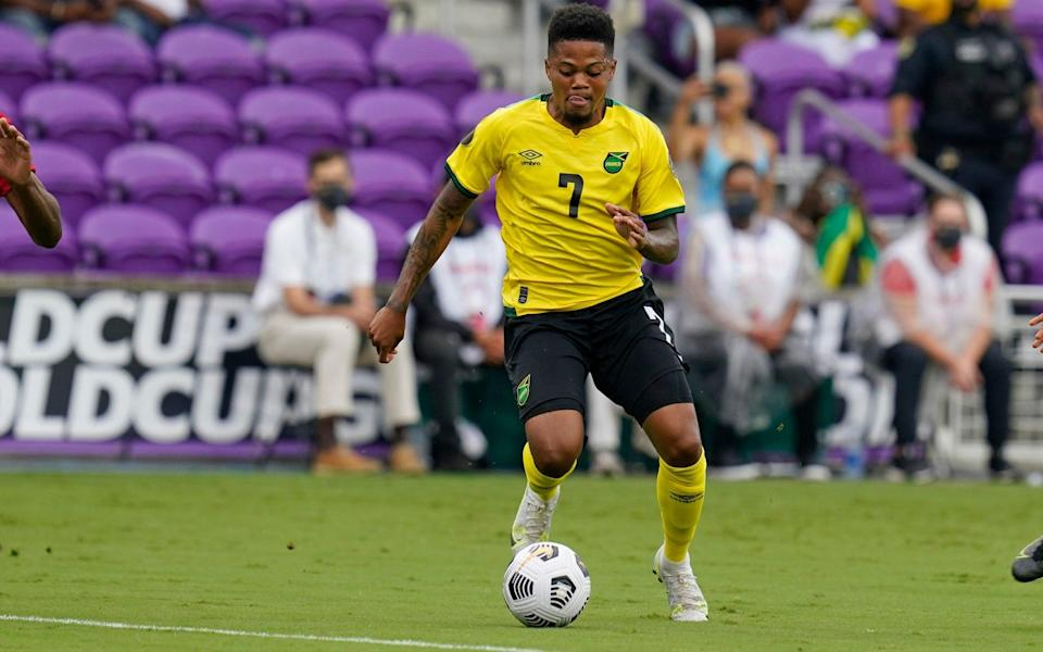 Leon Bailey in action for Jamaica - AP