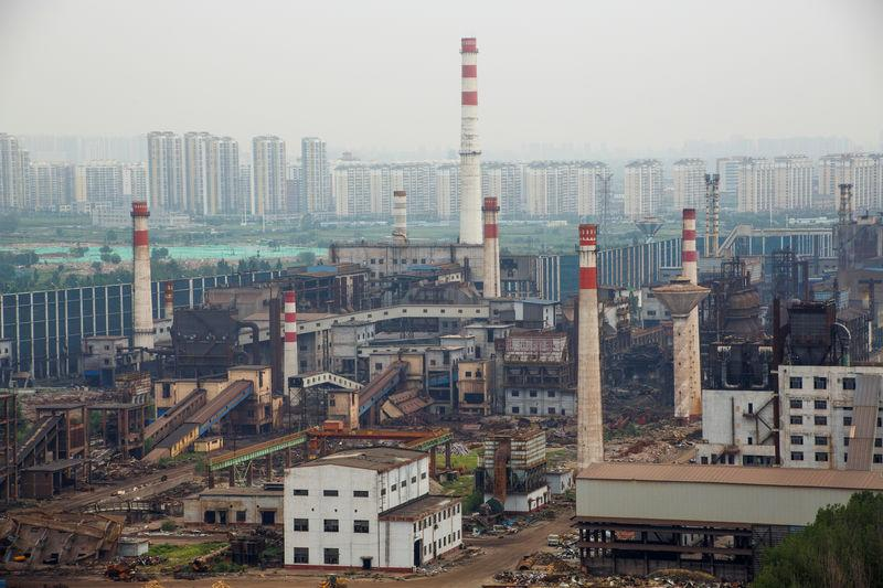 A general view shows the decommissioned Guofeng Iron and Steel plant in Tangshan