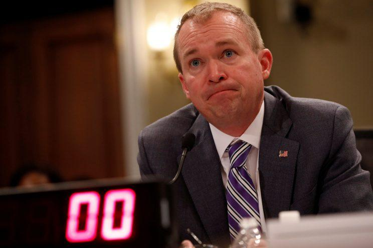 Office of Management and Budget Director Mick Mulvaney testifies before the House Budget Committee