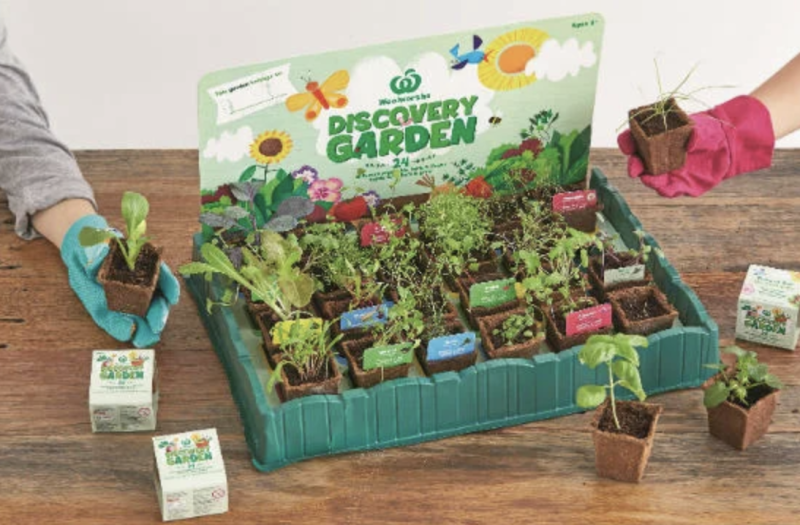 A complete Discovery Garden set. Source: Woolworths