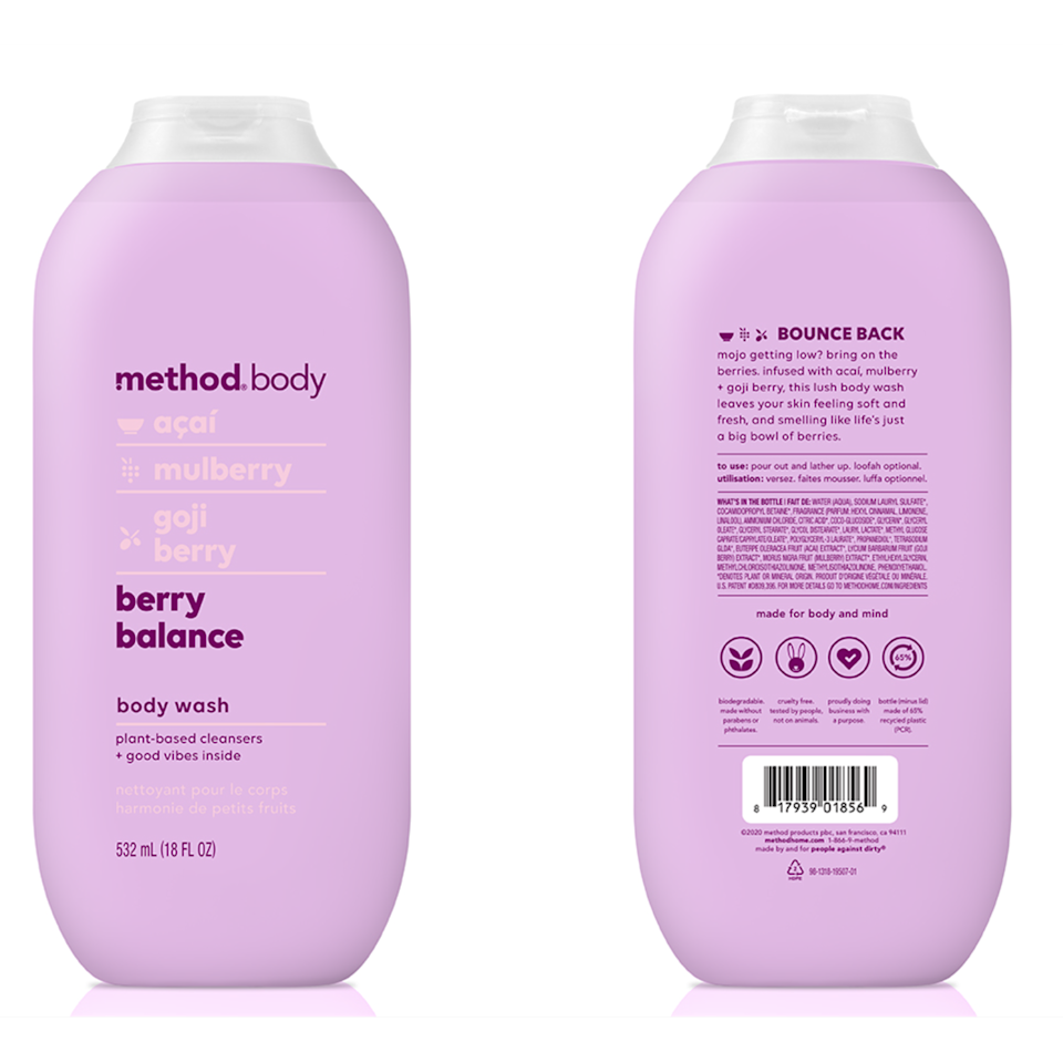 <p>The fruity scent of the new Method Berry Balance Body Wash will have you day-dreaming about pies. (Yes, pies.) Made with açai, mulberry, and goji berries, you'll feel like you stepped right into a fresh fruit garden once you start to lather this refreshing cleanser onto your skin.</p> <p><strong>$7</strong> (Available in July)</p>