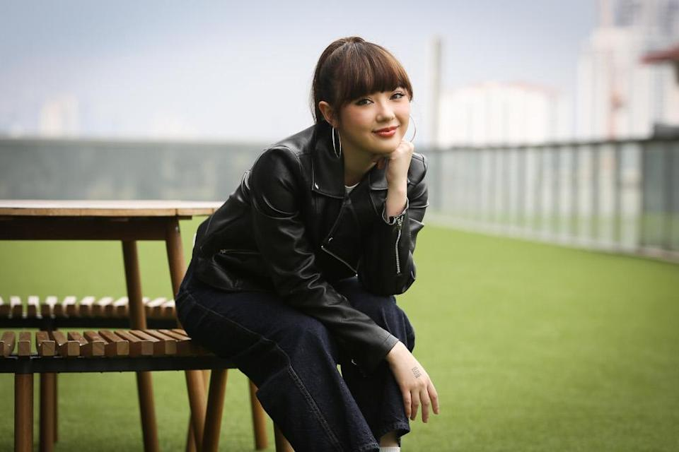 Red Records Artist Jannine Weigel poses for a picture after a press conference at the Universal Music in Petaling Jaya September 11, 2020. — Picture by Yusof Mat Isa