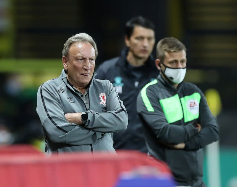 Middlesbrough boss Warnock tests positive for COVID-19