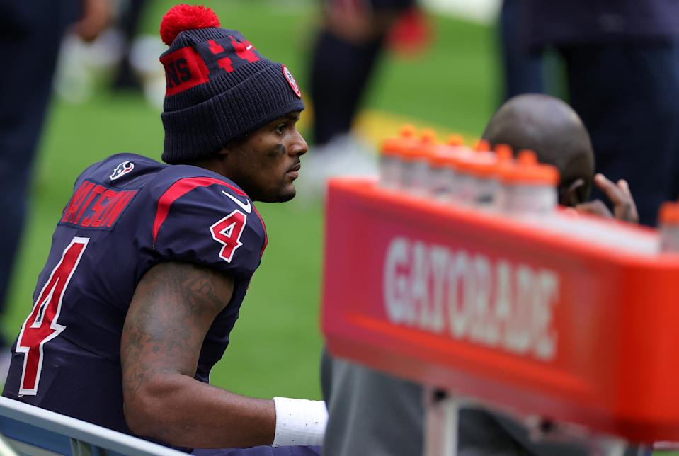 The details of Texans quarterback Deshaun Watson's alleged sexual assault are out. (Photo by Carmen Mandato/Getty Images)