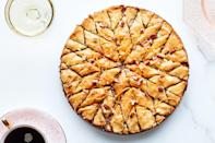 "Bourbon-honey syrup and fragrant orange zest add rich flavor to this cross between baklava and pie. It's the ideal centerpiece for a festive autumn or winter meal. <a href=""https://www.epicurious.com/recipes/food/views/pecan-orange-baklava-pie?mbid=synd_yahoo_rss"" rel=""nofollow noopener"" target=""_blank"" data-ylk=""slk:See recipe."" class=""link rapid-noclick-resp"">See recipe.</a>"