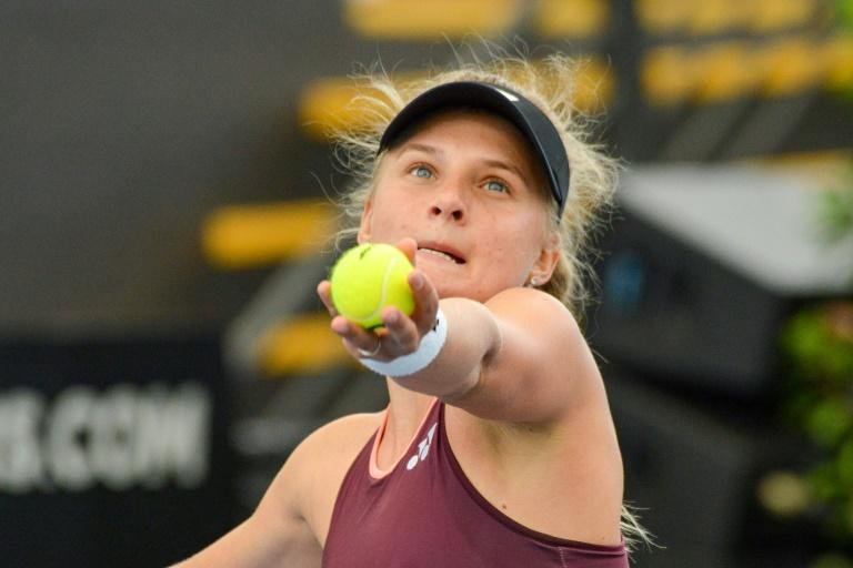 Dayana Yastremska is through to the semi-finals of the Adelaide International (AFP Photo/Brenton EDWARDS)
