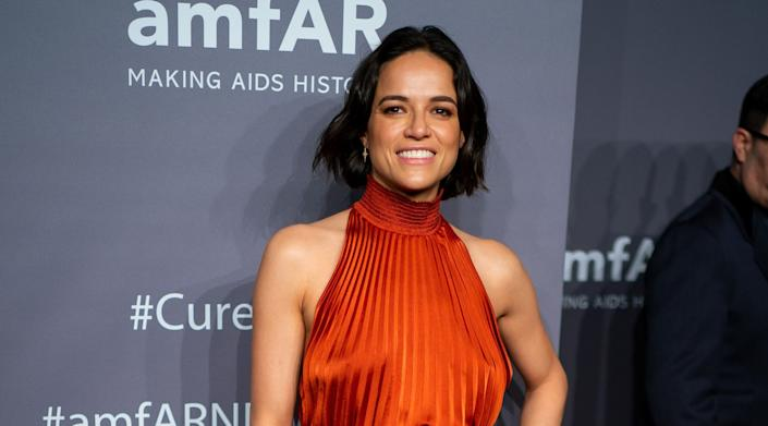 "Michelle Rodriguez had an interesting take on how we can judge Liam Neeson after his story about once wanting to kill ""black bastards."" (Photo: Michael Stewart via Getty Images)"