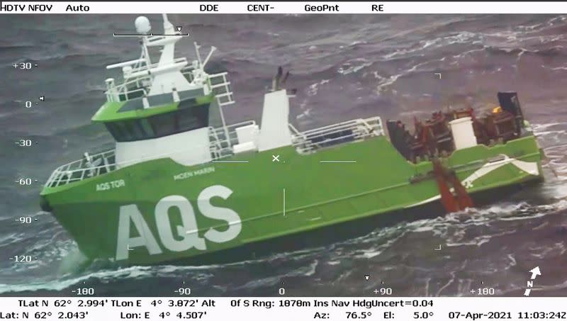 The service boat for AQS in the Norwegian Sea