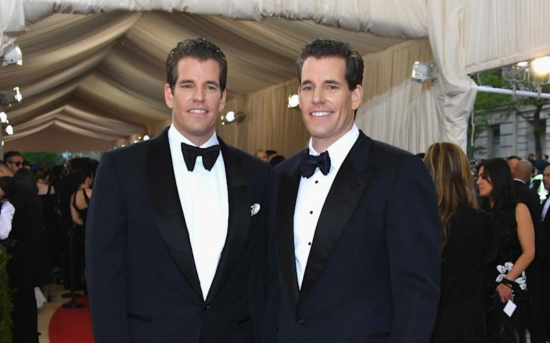 Tyler and Cameron Winklevoss put $11m into Bitcoin three years ago - Getty Images