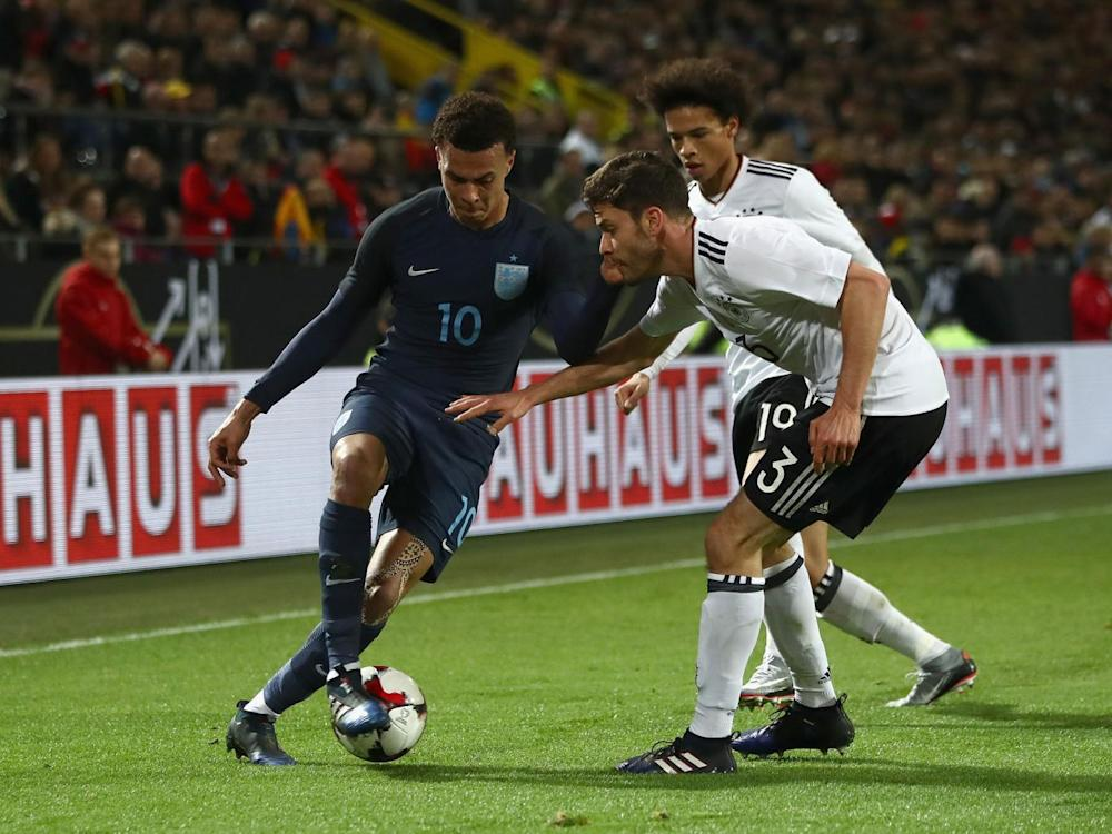 Dele Alli starred for England despite the 1-0 defeat by Germany (Getty)