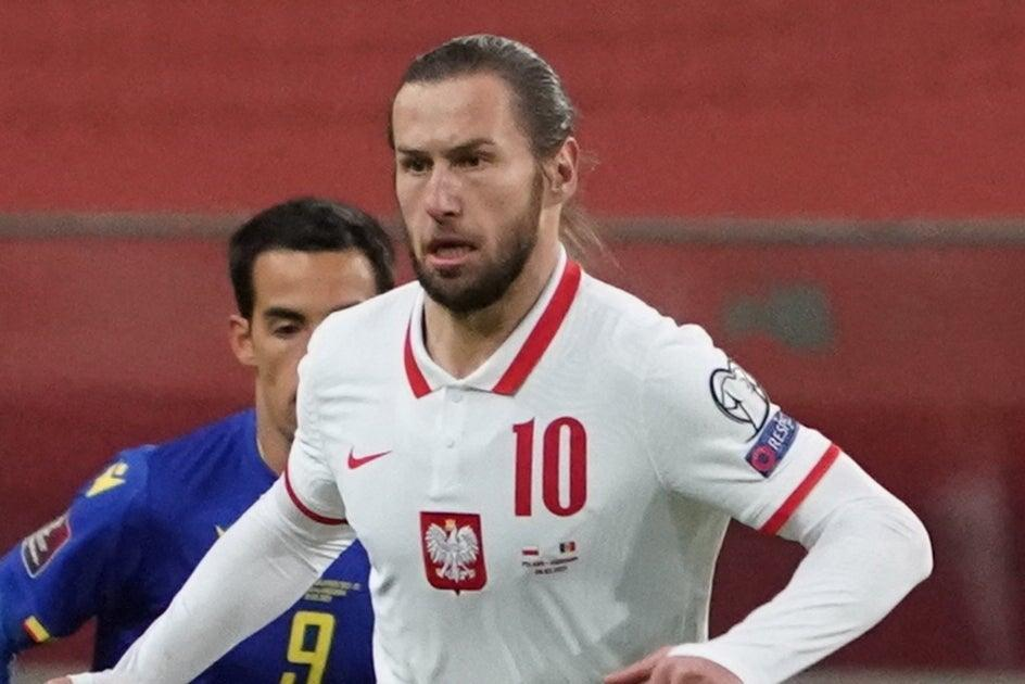 <p>Poland's Grzegorz Krychowiak has tested positive for Covid-19 ahead of England clash</p> (AFP via Getty Images)