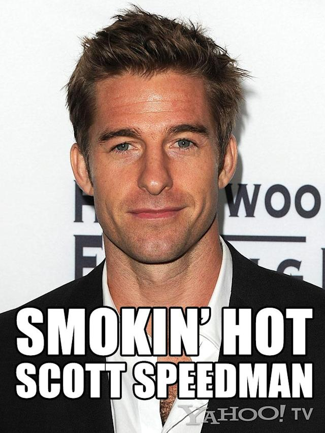 "<strong>Scott Speedman<br><br></strong>And, we changed our minds. We pick Ben. (Sorry, Noel, but you've had practice with rejection.) Speedman is straight-up proof that God (or the ""<a href=""http://tv.yahoo.com/shows/felicity/"" data-ylk=""slk:Felicity"" class=""link rapid-noclick-resp"">Felicity</a>"" casting agent at the WB in the mid '90s) is a woman. Just look at this man and tell us that you don't start to blush. He's the Marlboro man minus the Marlboros. You can picture him sitting in an overstuffed leather chair in a library, hunched over Jane Austen, not even realizing how hot he is, his stubble overgrown but soft, you know, because he comes from heaven!"