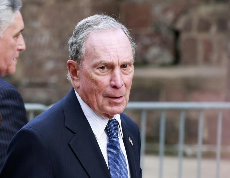 In this file photo taken on May 15, 2019 Michael Bloomberg arrives to the opening celebration of the Statue of Liberty Museum on Liberty Island (AFP Photo/KENA BETANCUR)