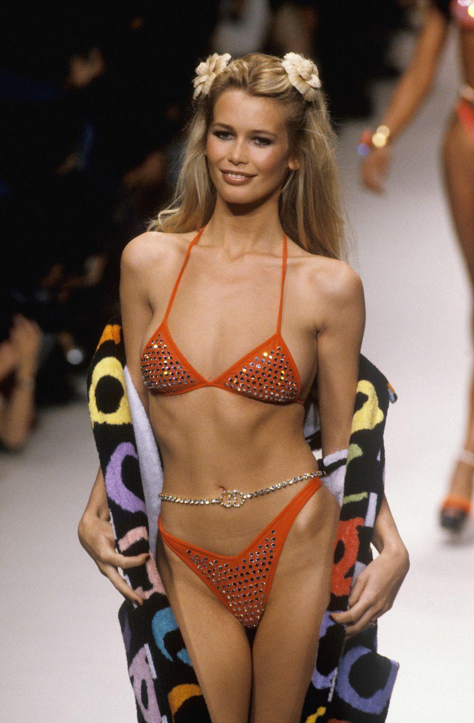 <p>Things got much more sparkly in 1994, when rhinestones became a popular embellishment for bathing suits.</p>