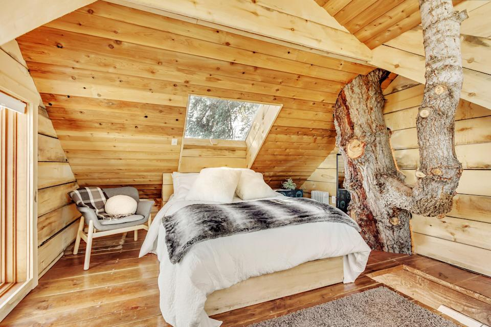 """<p>airbnb.com</p><p><strong>$278.00</strong></p><p><a href=""""https://www.airbnb.com/rooms/3635074"""" rel=""""nofollow noopener"""" target=""""_blank"""" data-ylk=""""slk:BOOK NOW"""" class=""""link rapid-noclick-resp"""">BOOK NOW</a></p><p>A favorite of Park City visitors, this treehouse welcomes skiers and Sundancers 8,000 ft in the sky at the heart of a 200-year-old fir tree.</p>"""