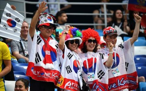 South Korea fans - Credit: afp