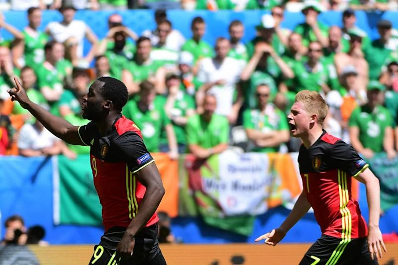 Lukaku and De Bruyne in action for Belgium at Euro 2016 (AFP/Getty Images)
