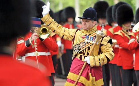 Drum Major Staite during the Queen's Birthday Parade in 2012 - Credit: PA