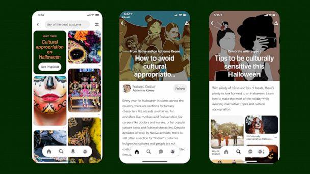 PHOTO: Pinterest is prohibiting the advertising of culturally inappropriate costumes and is allowing Pinners to report culturally insensitive costumes. (Pinterest)