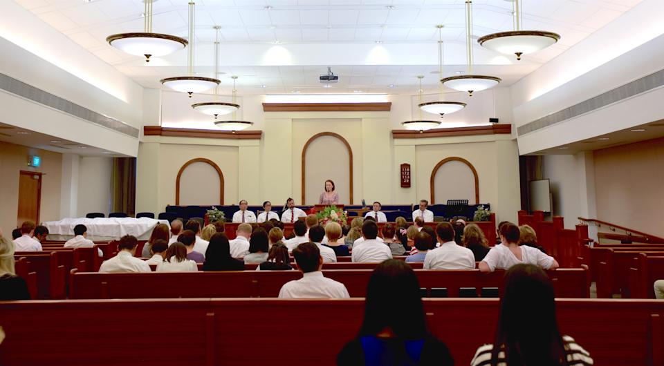 A Sacrament Meeting at the LDS premises in Bukit Timah, on a Sunday morning in September. PHOTO: Nurul Amirah/Yahoo News Singapore