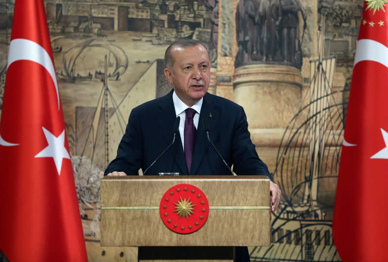Erdogan says Turkey won't compromise over rights at sea