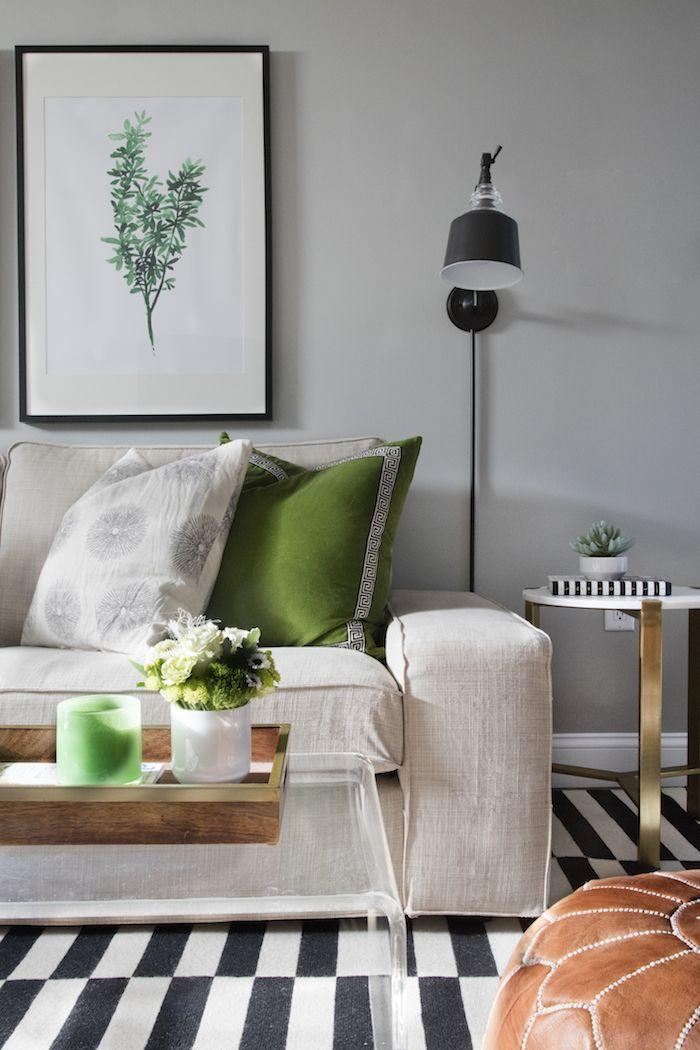 """<p>Any good designer will tell you that a little greenery goes a long way when it comes to home decor. Bring the outside inside with faux plants, plant prints, and some woodsy birch tree wallpaper.</p><p><strong>See more at <a href=""""http://www.elementsofstyleblog.com/2016/01/31248.html"""" rel=""""nofollow noopener"""" target=""""_blank"""" data-ylk=""""slk:Elements of Style"""" class=""""link rapid-noclick-resp"""">Elements of Style</a>.</strong></p><p><a class=""""link rapid-noclick-resp"""" href=""""https://go.redirectingat.com?id=74968X1596630&url=https%3A%2F%2Fwww.walmart.com%2Fip%2FNuWallpaper-Birch-Tree-Peel-Stick-Wallpaper%2F47419790&sref=https%3A%2F%2Fwww.redbookmag.com%2Fhome%2Fg36061437%2Fbasement-ideas%2F"""" rel=""""nofollow noopener"""" target=""""_blank"""" data-ylk=""""slk:SHOP WALLPAPER"""">SHOP WALLPAPER</a></p>"""