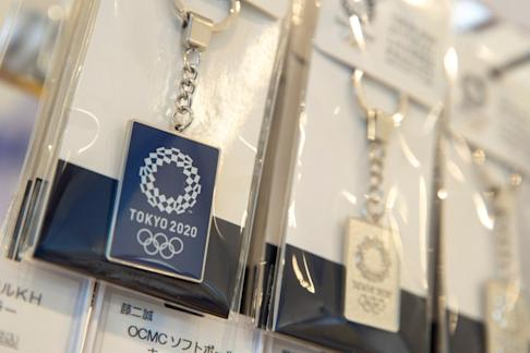 Tokyo 2020 Olympic Games key chains. Photo: Reuters