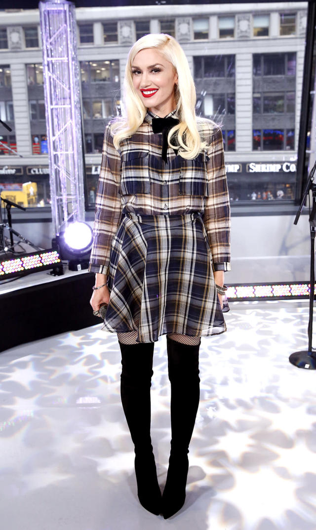 """<p>Stefani was mad for plaid during an April appearance on <em>Good Morning America</em>. Can't you just hear the marching band from the """"Hollaback Girl"""" video playing a school fight song? (Photo: Heidi Gutman/ABC via Getty Images) </p>"""