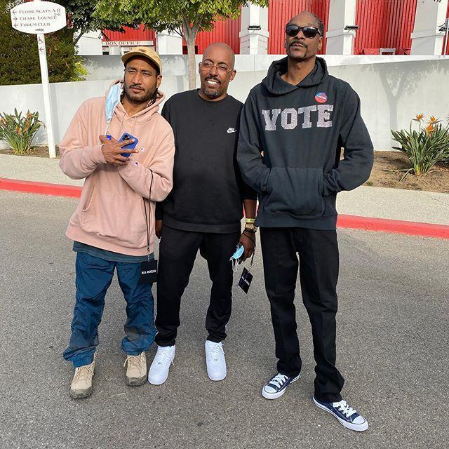"""<p>The 49-year-old rapper has revealed that he has voted for the first time. Snoop said <a href=""""https://www.independent.co.uk/arts-entertainment/music/news/snoop-dogg-vote-2020-election-trump-joe-biden-a9555736.html"""" rel=""""nofollow noopener"""" target=""""_blank"""" data-ylk=""""slk:in a June interview"""" class=""""link rapid-noclick-resp"""">in a June interview</a> that he was under the impression he couldn't vote because of his criminal record but now that his record has been expunged, he can.</p><p>'I ain't never voted a day in my life, but this year I think I'm going to get out and vote because I can't stand to see this punk in office one more year,' the 'Gin and Juice' rapper said.</p><p><a href=""""https://www.instagram.com/p/CGvybednvIJ/"""" rel=""""nofollow noopener"""" target=""""_blank"""" data-ylk=""""slk:See the original post on Instagram"""" class=""""link rapid-noclick-resp"""">See the original post on Instagram</a></p>"""