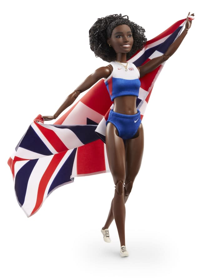 The Barbie doll of British athletics star Dina Asher-Smith (Michael Bowles/PA)