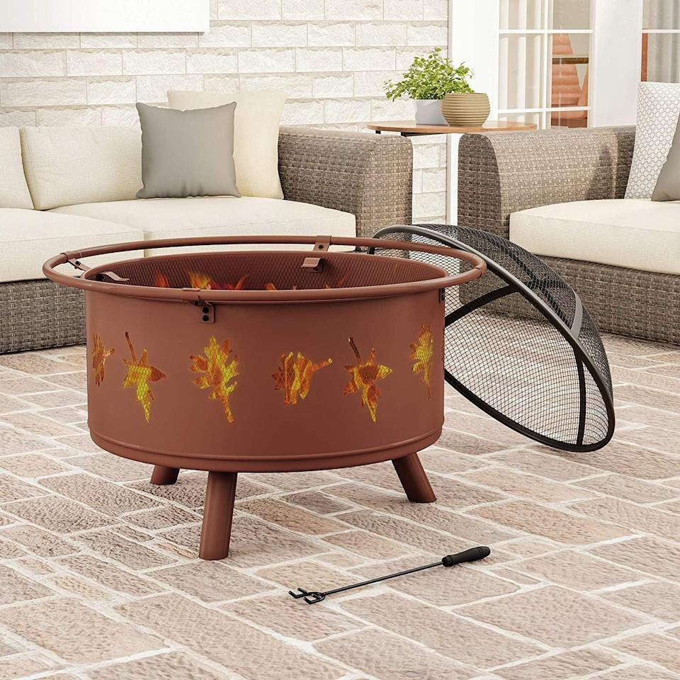 <p>There's enough room for everyone to make s'mores around this <span>Pure Garden Round Large Steel Pit</span> ($104, originally $129).</p>