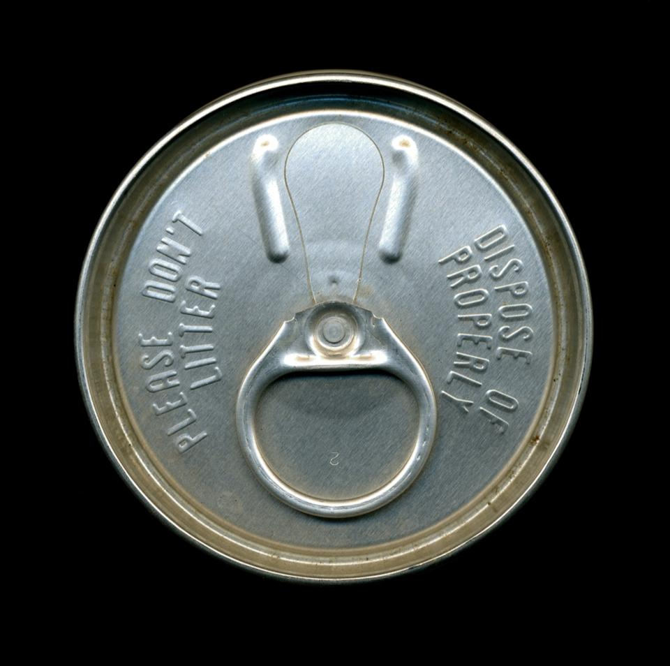 aluminum soda can tab from 1970s, 1970s nostalgia