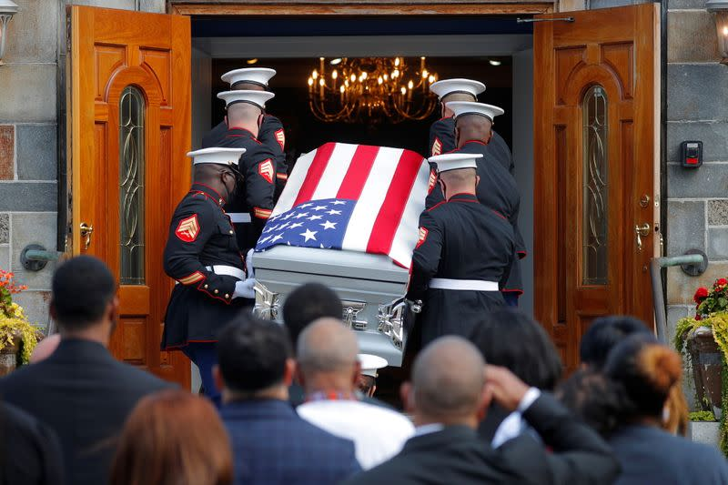 The remains of U.S. Marine Sgt. Johanny Rosario Pichardo return to her hometown, in Lawrence