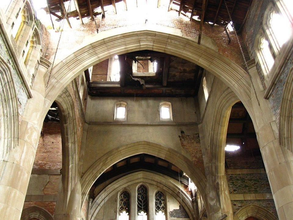 """<p><strong>City Methodist Church - Gary, IN</strong></p><p>Gary is home to the former City Methodist Church, which served as a place of worship beginning in 1925. But following low attendance rates, the church closed its doors in 1975. Today, the structure stands as a gothic ghost and has even served as a creepy filming location for <em>A Nightmare on Elm Street.</em> </p><p>Photo: Flickr/<a href=""""https://www.flickr.com/photos/seemsfinehamburg/3965952434/in/photolist-9B2FGs-bwt1n4-76SPxs-95sYAn-5M3Lo2-g9Dg1z-4wv6J3-bVhPC1-2JZN3N-2yogHp-aRCY58-9aZC8t-buh7aX-azQAHx-buh7sM-73sxuf-buh7jx-3c72VL-2JVoZX-96ydLM-9p2V4Z-2UkRMw-2yjoPm-4ftY3P-axijHy-5vNQa3-2JUpto-2ytBJM-9b3L45-95df1E-96Bgkh-2JQ5F8-9b3QXd-2AoX7S-2yy7WN-2zf5Jk-3iYCok-2JZiqd-2yy1DN-2Um11y-76NVr2-2JZdo7-2yTx9b-4fxYpj-K7qyxc"""" rel=""""nofollow noopener"""" target=""""_blank"""" data-ylk=""""slk:Lindspetrol"""" class=""""link rapid-noclick-resp"""">Lindspetrol</a> </p>"""