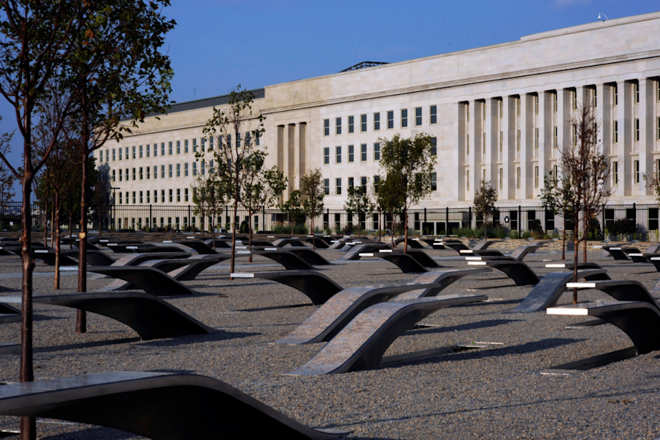 FILE: The Pentagon Memorial honoring the 184 people killed at the Pentagon and on American Airlines flight 77, shortly before its dedication ceremony on Sept. 11 2008.  / Credit: U.S. Navy Photo by Mass Communication Specialist 1st Class Brien Aho