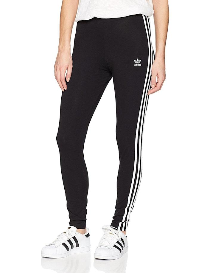 """<p>Is it any surprise these classic <span>Adidas Originals Women's 3-Stripes Leggings</span> ($23-$60) have superhigh ratings? One customer said, """"I bought 2 pairs of these because they are my favorite pants in the whole world.""""</p>"""