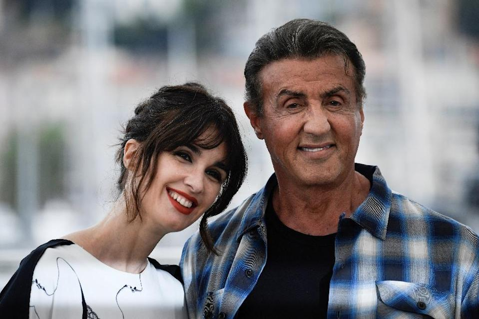 "Sylvester Stallone and Spanish actress Paz Vega play together in ""Rambo V"" in which traumatised Vietnam veteran John Rambo goes up against a Mexican drugs cartel (AFP Photo/CHRISTOPHE SIMON)"