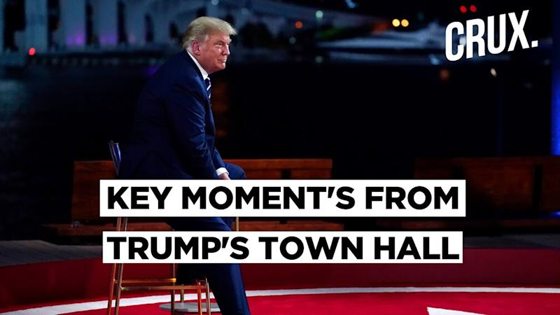 US President Donald Trump's Town Hall | Trump Claims COVID-19 Is Almost Over
