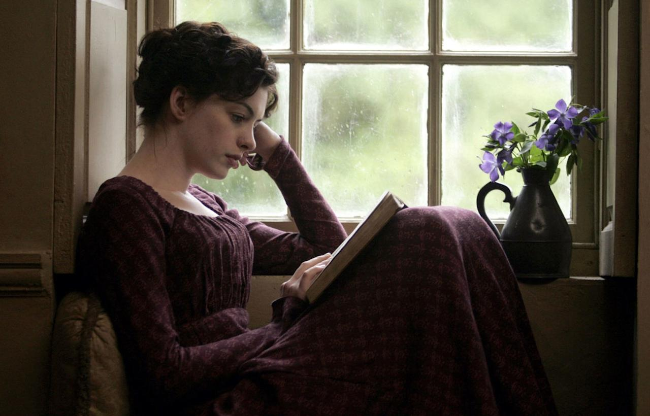 """<p><em>Becoming Jane</em> isn't totally faithful to Jane Austen's real-life history, though it is inspired by a rumored flirtation the author had with a lawyer named Tom Lefroy. Even so, <a href=""""http://www.glamour.com/about/anne-hathaway?mbid=synd_yahoo_rss"""">Anne Hathaway</a>'s version of the iconic <em>Pride and Prejudice</em> writer shows us a valuable lesson: sometimes putting aside love to focus on yourself is the best thing you can do. So much attention is paid to the fact that Austen never married, as if that's a sad thing; from all accounts, she lived a very full life until her death in 1817. And, of course, her legacy lives on in her work.</p> <p><em>Available to buy on</em> <a href=""""https://www.amazon.com/Becoming-Jane-Anne-Hathaway/dp/B000ZIZ0RA"""" rel=""""nofollow""""><em>Amazon</em></a><em>.</em></p>"""