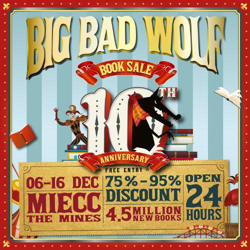The Big Bad Wolf Book Sale Kuala Lumpur 2019 caters to both early bird and night owl kinds of bookworms, as it's open 24 hours every day!