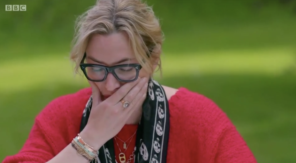 Winslet broke into tears after learning of her great-grand father's tragic fate (BBC)