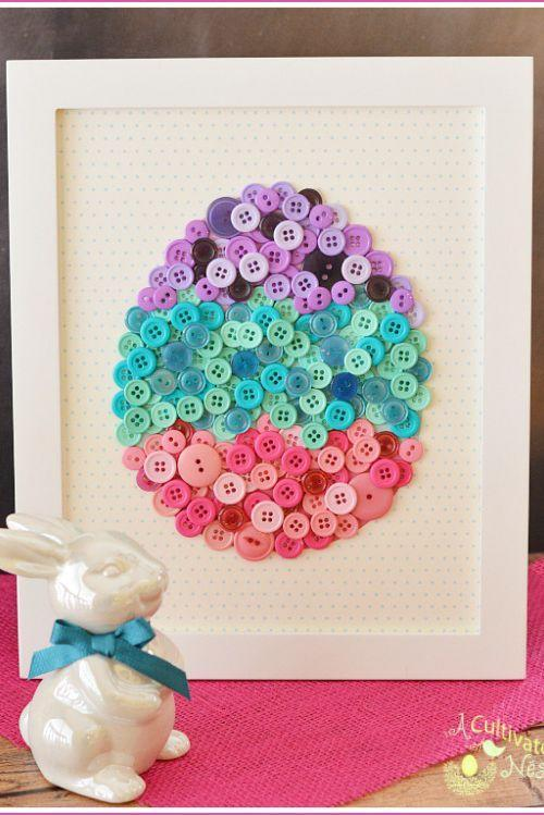 "<p>Use pink, purple, and teal buttons in various sizes to create this colorful springtime art. </p><p><strong>Get the tutorial at <a href=""http://acultivatednest.com/2015/03/diy-button-craft/"" rel=""nofollow noopener"" target=""_blank"" data-ylk=""slk:The Cultivated Nest"" class=""link rapid-noclick-resp"">The Cultivated Nest</a>.</strong></p><p><a class=""link rapid-noclick-resp"" href=""https://www.amazon.com/Efivs-Arts-Flatback-Scrapbooking-Childrens/dp/B06XGY8JFQ/ref=sr_1_3?tag=syn-yahoo-20&ascsubtag=%5Bartid%7C10050.g.1652%5Bsrc%7Cyahoo-us"" rel=""nofollow noopener"" target=""_blank"" data-ylk=""slk:SHOP BUTTONS"">SHOP BUTTONS</a></p>"